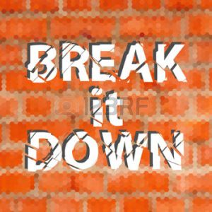 break down wall
